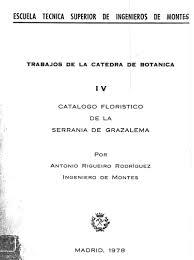 Catálogo Florístico de la Serranía de Grazalema