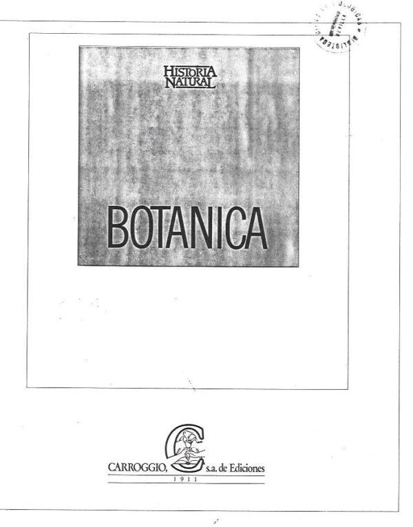 Historia Natural. Botanica